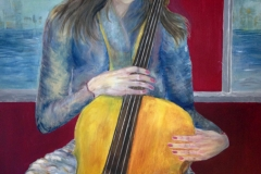 Girl with Cello by Sue Brelade
