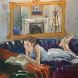 Girl on a Sofa by Sue Brelade
